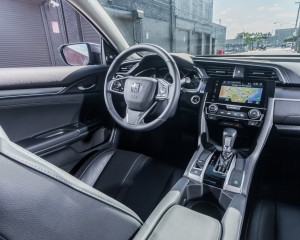 2016 Honda Civic Touring Interior Steering and Dashboard