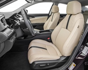 2016 Honda Civic Touring Sedan Interior Front Seats
