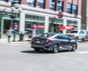 2016 Honda Civic Touring Test Rear View