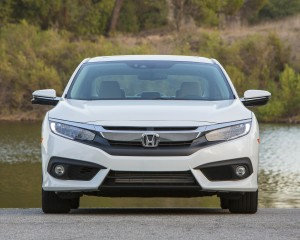 2016 Honda Civic Touring White Exterior Front