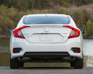 2016 Honda Civic Touring White Exterior Rear