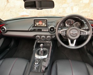 2016 Mazda MX-5 Miata Cockpit and Dashboard Interior