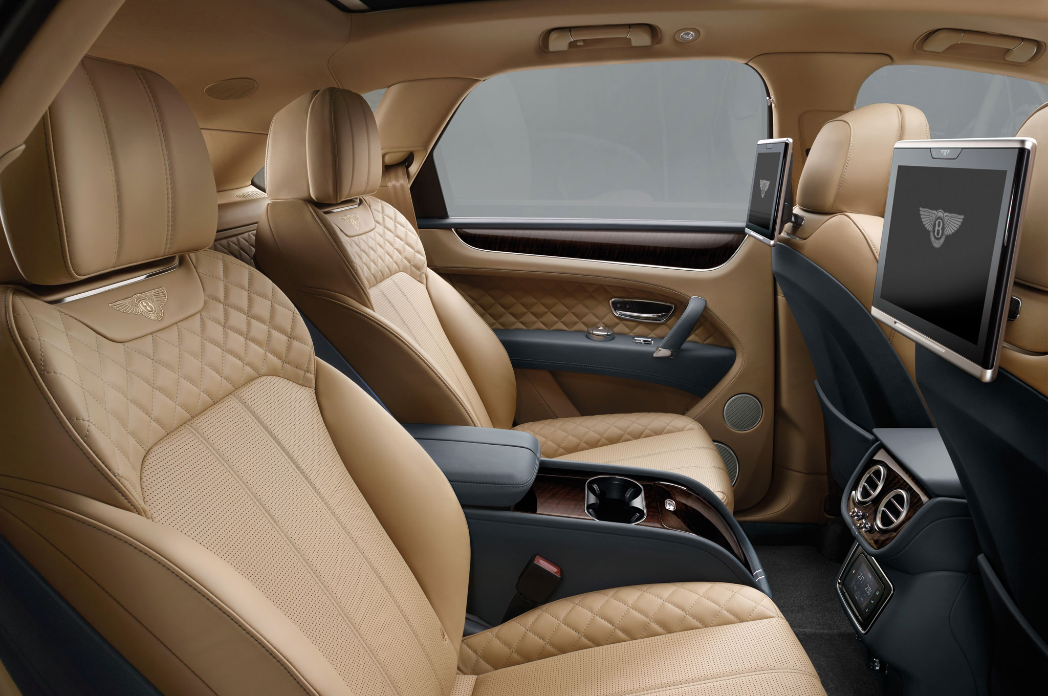2017 Bentley Bentayga Rear Seats Interior