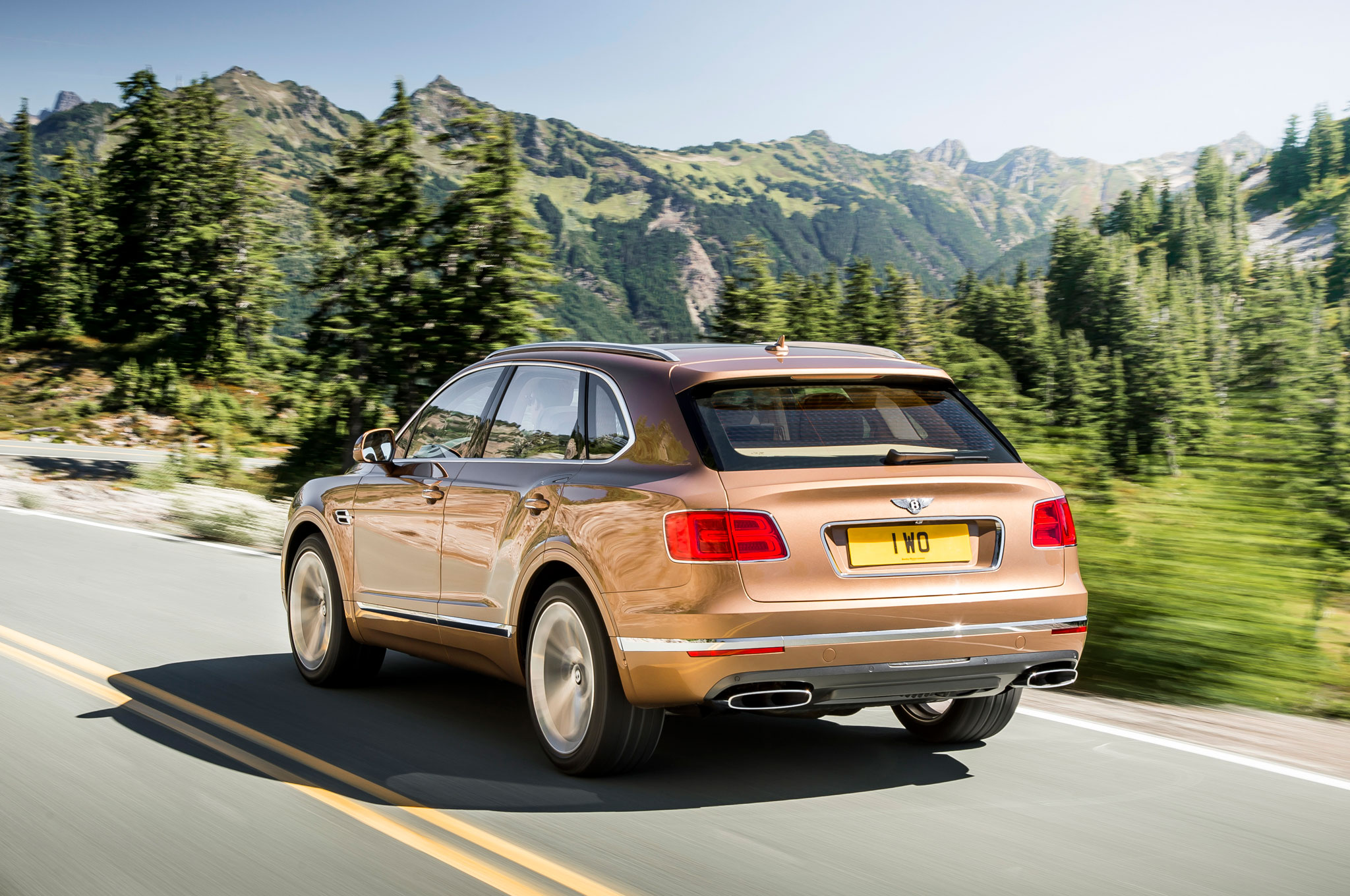 2017 Bentley Bentayga Rear Side View