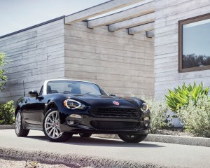 2017 Fiat 124 Spider Black Front Side Design