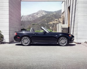 2017 Fiat 124 Spider Convertible Roof Down