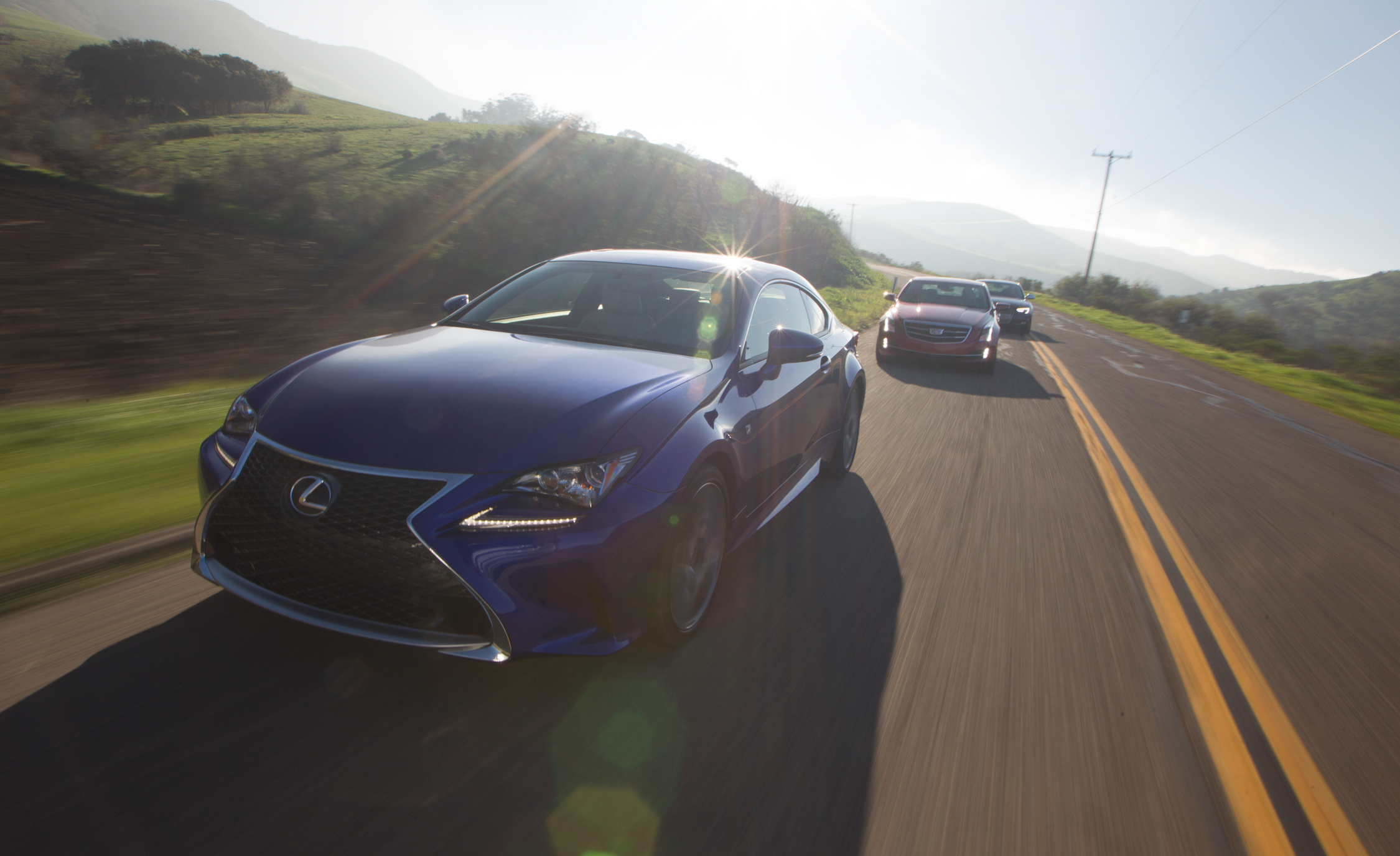 Comparison 2015 Lexus RC350 F vs 2015 Audi S5 vs 2015 Cadillac ATS Coupe 3.6