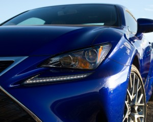 Headlamp Close Up 2015 Lexus RC350 F Sport