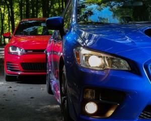 Headlamp Comparison 2015 Subaru WRX vs 2015 Volkswagen GTI