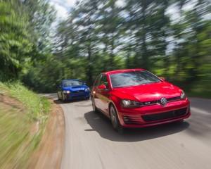 Performance Test 2015 Volkswagen GTI vs 2015 Subaru WRX