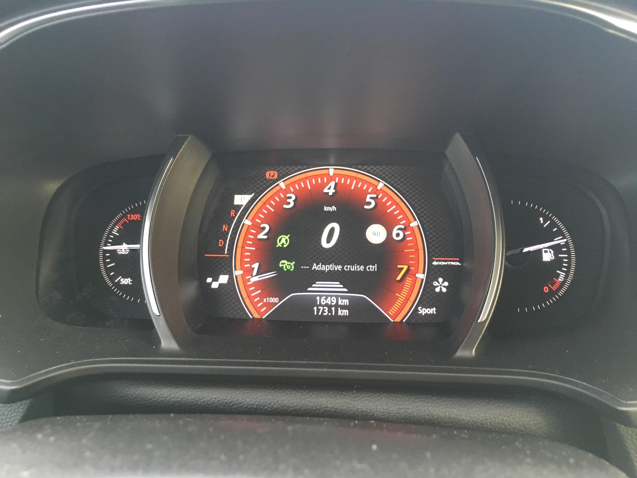Speedometer 2016 Renault Megane GT