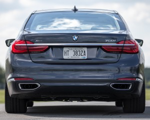 2016 BMW 750i xDrive Gray Metallic Exterior Rear