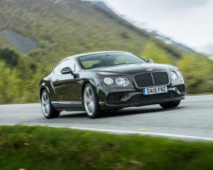 2016 Bentley Continental GT Speed Test Front and Side View