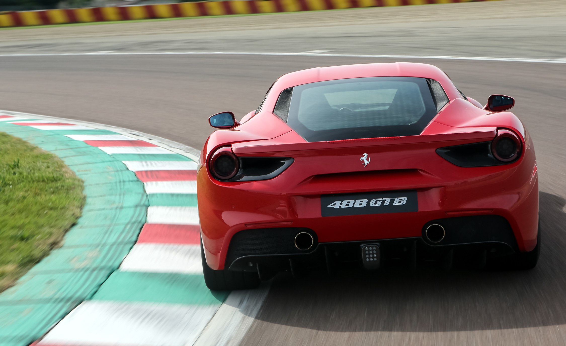 2016 Ferrari 488GTB Test Rear View