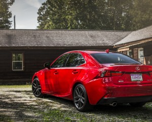 2016 Lexus IS200t F Sport Exterior Rear and Side