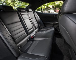 2016 Lexus IS200t F Sport Interior Seats Rear