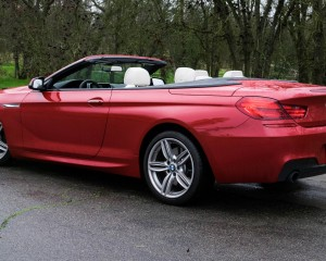 2016 BMW 640i Convertible Exterior Full Side Roof Down
