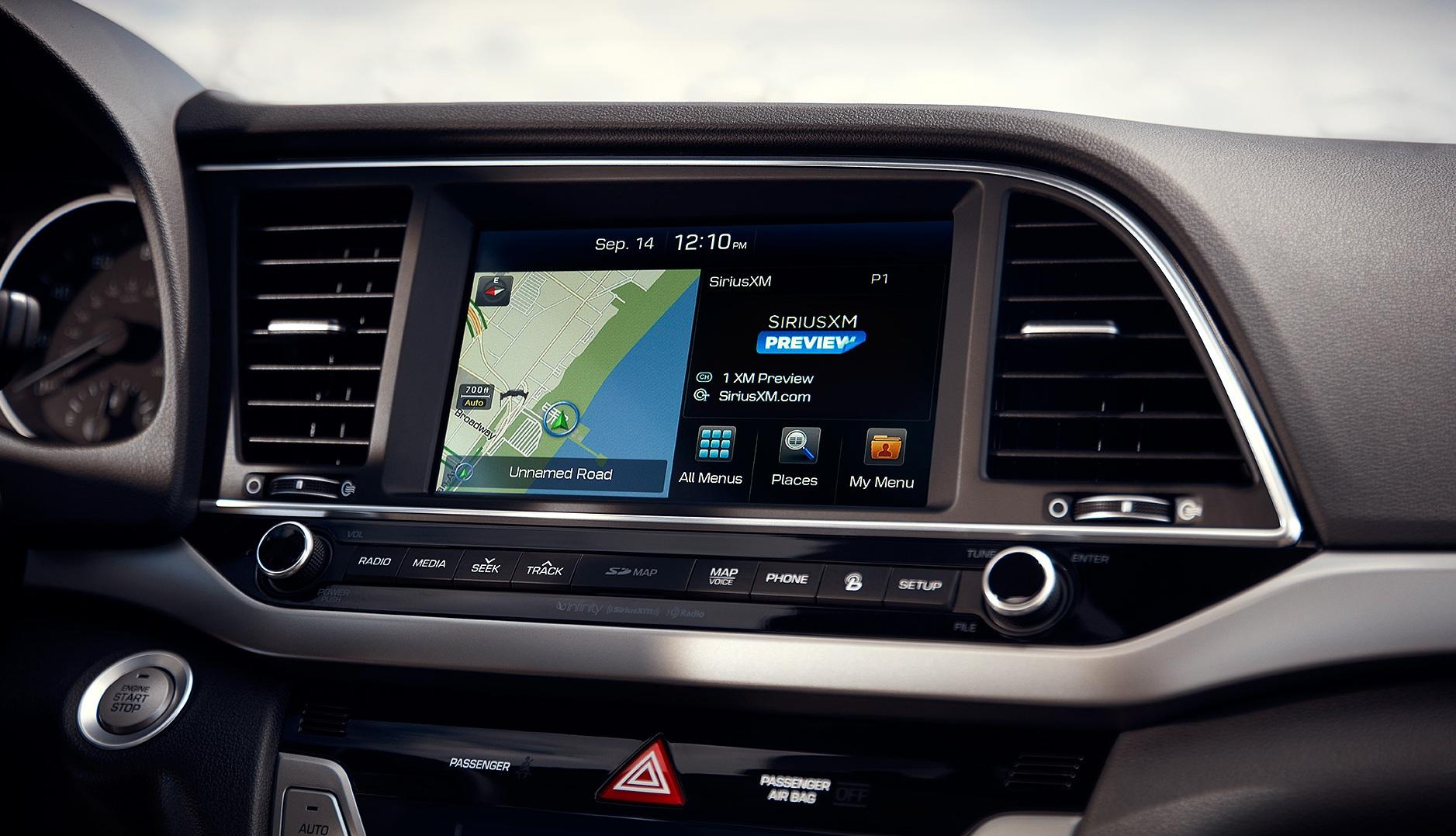 2017 Hyundai Elantra Touchscreen View