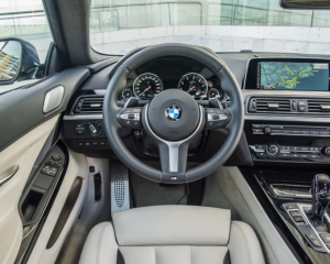 2017 BMW 6 Series Coupe Interior Steering Wheel View