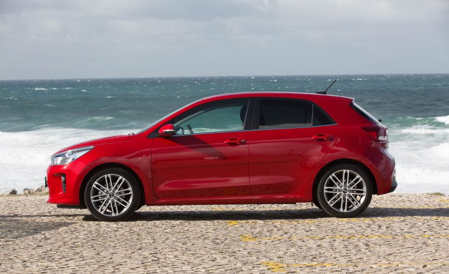 2018 kia rio hatchback. perfect hatchback 2018 kia rio side view in kia rio hatchback