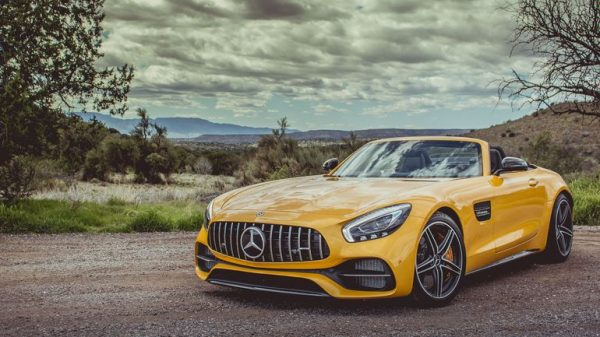 2018 Mercedes AMG GT C Roadster Front View Review