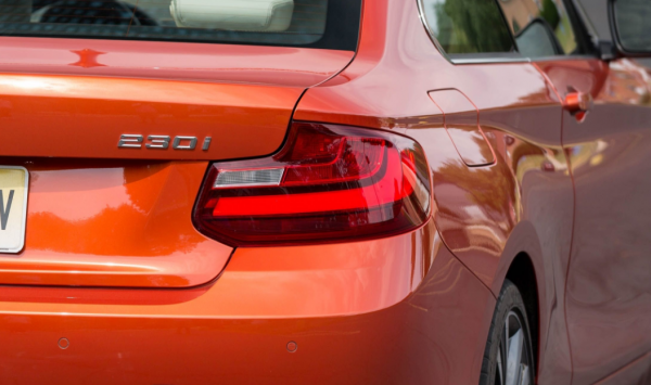 2018 BMW 2 series rear lights review
