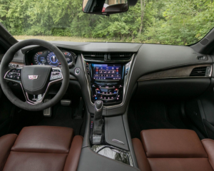 2018 Cadillac CTS Dashboard Steering Wheel View
