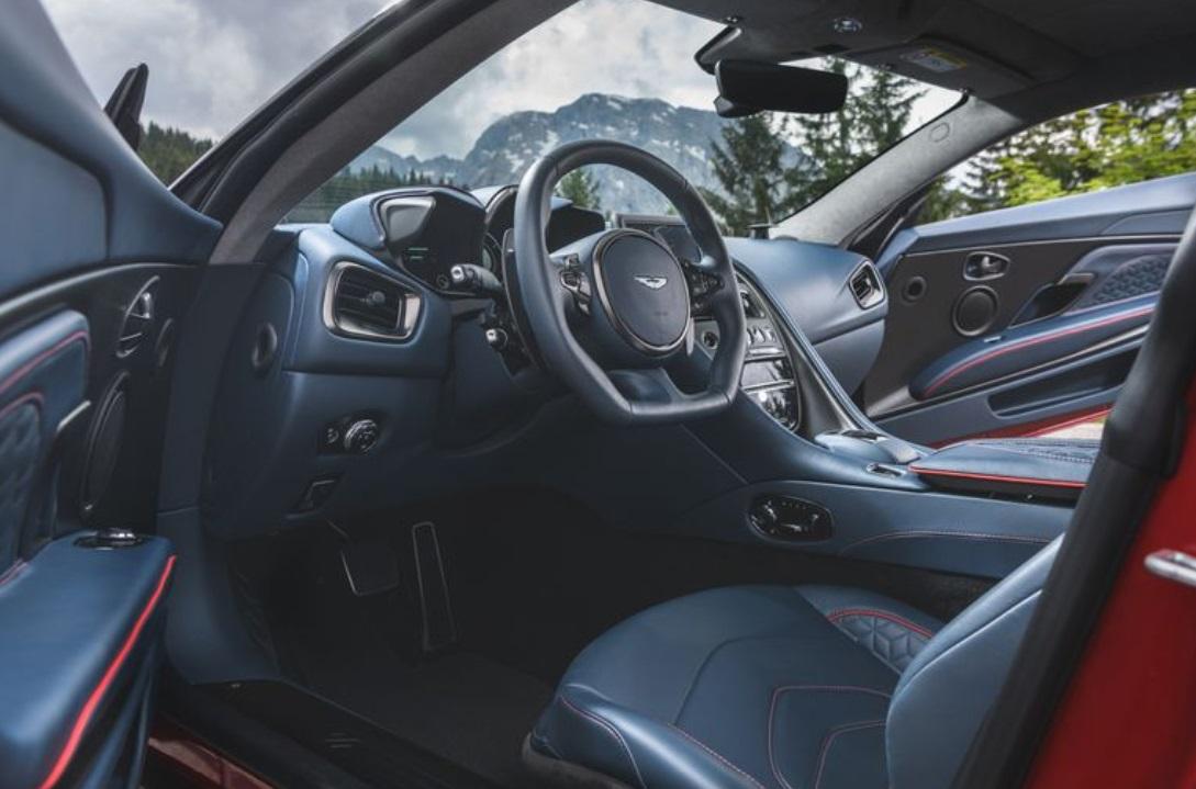2019 Aston Martin DBS review dashboard steering wheel