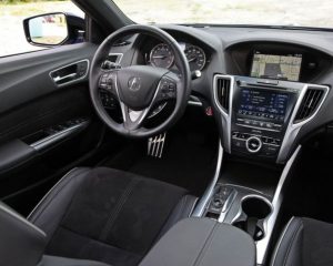 2019 Acura TLX review steering dashboard